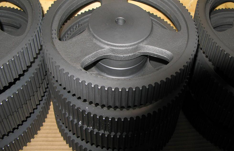 Remhjul fremstillet hos Poul Jensens Maskinfabrik.